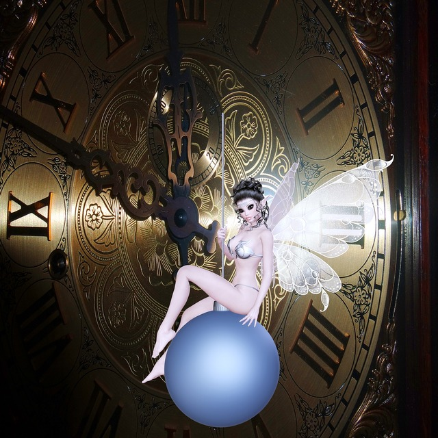 Clock beautiful fairy time passing, people.