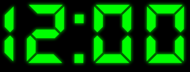 Clock digital numbers.