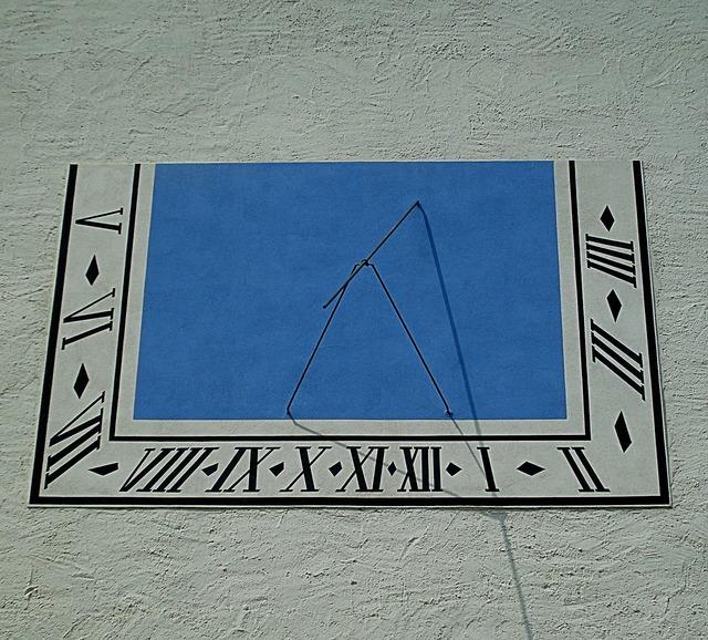 Clock sundial castle augustusburg.