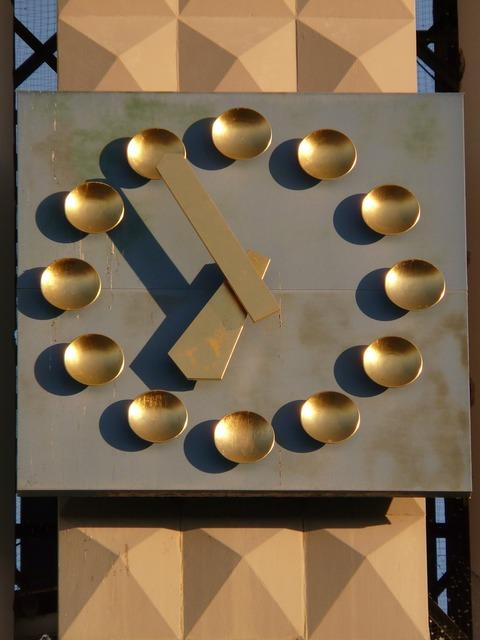 Clock time of church clock.