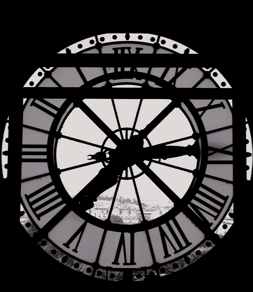 Clock time window, architecture buildings.