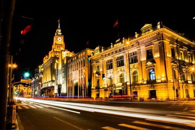 Clock tower city night night, architecture buildings.