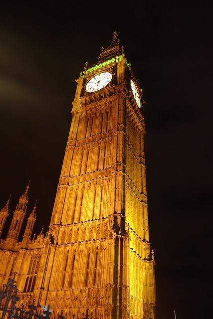 Clock tower landmark, places monuments.