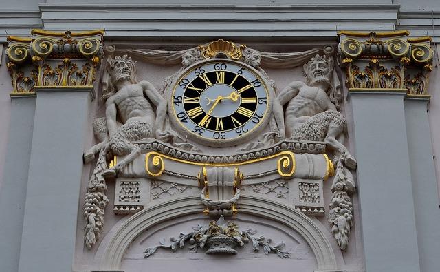 Clock town hall clock clock tower.