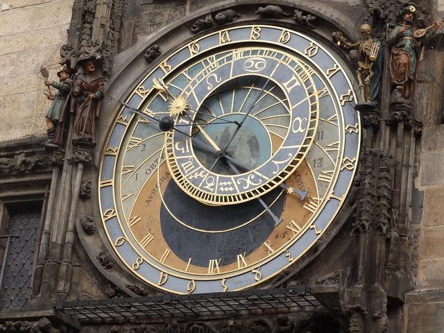Clock town hall prague.