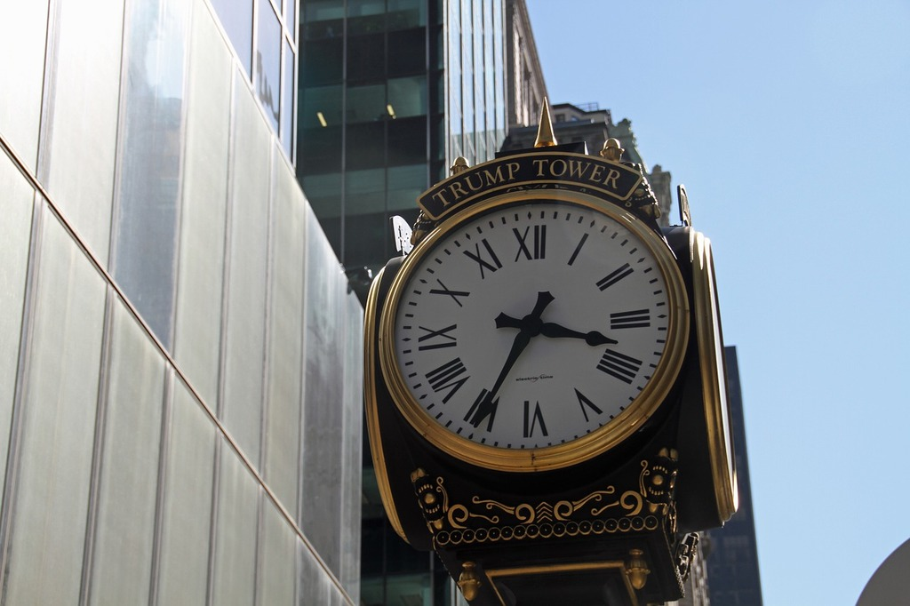 Clock trump trump tower, architecture buildings.