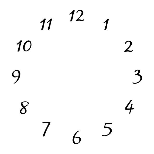 Clocks white numbers.