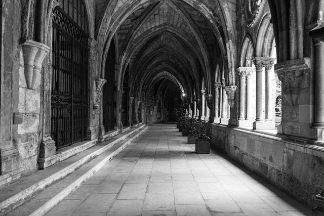 Cloister church architecture, religion.