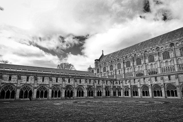 Cloisters cathedral norwich cathedral, architecture buildings.