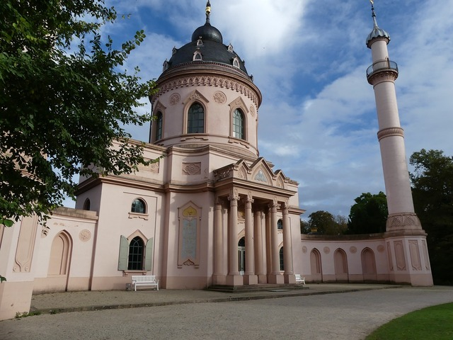 Closed garden schwetzingen mosque romantic, architecture buildings.