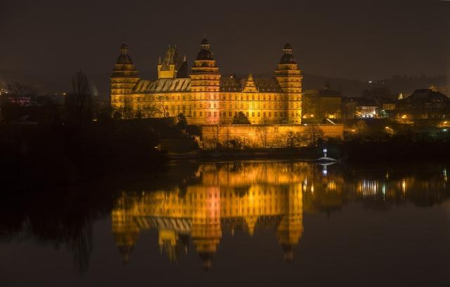 Closed johannisburg aschaffenburg castle.