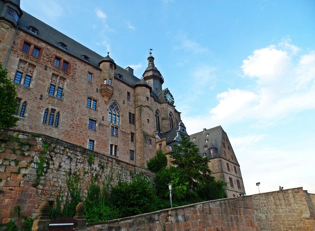 Closed marburg castle marburger castle, architecture buildings.