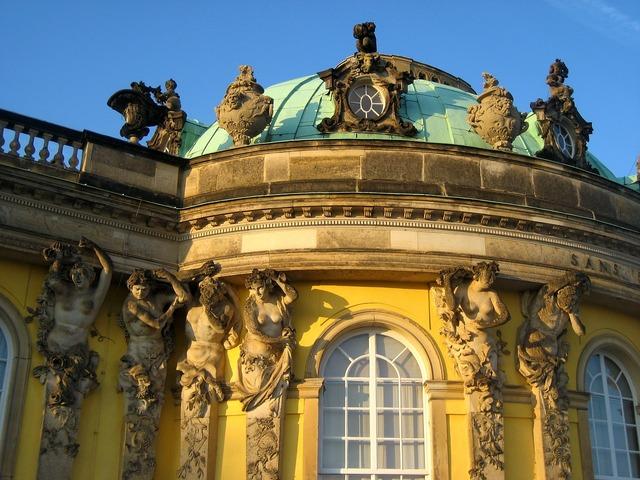 Closed sanssouci potsdam facade, places monuments.