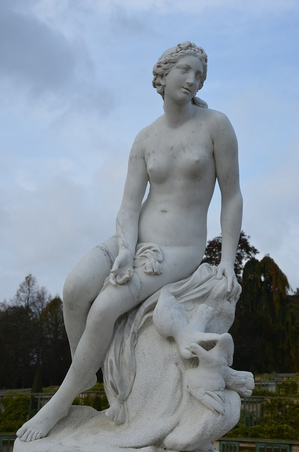 Closed sanssouci statue sculpture, beauty fashion.
