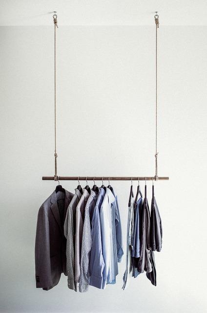 Clothes rail shirts clothing, beauty fashion.
