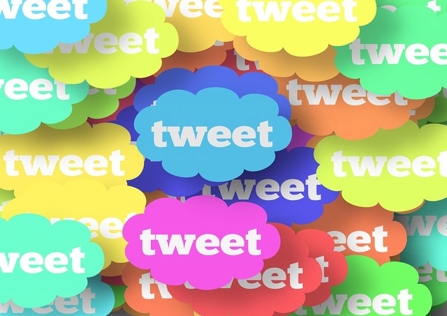 Cloud blog tweet, computer communication.