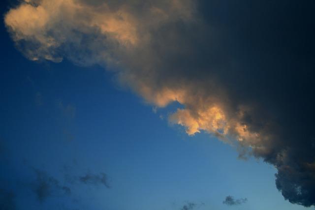 Clouds dark edged.