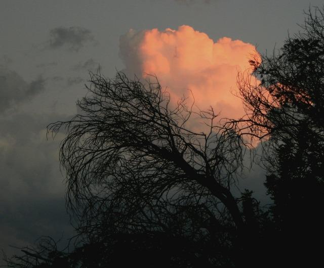 Clouds dense round, travel vacation.