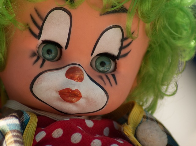 Clown doll flea market.