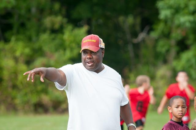 Coach flag football football, sports.