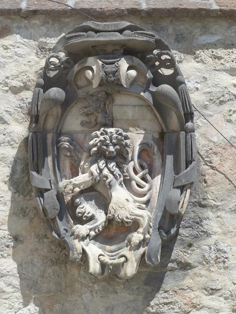 Coat of arms lion landmark, places monuments.