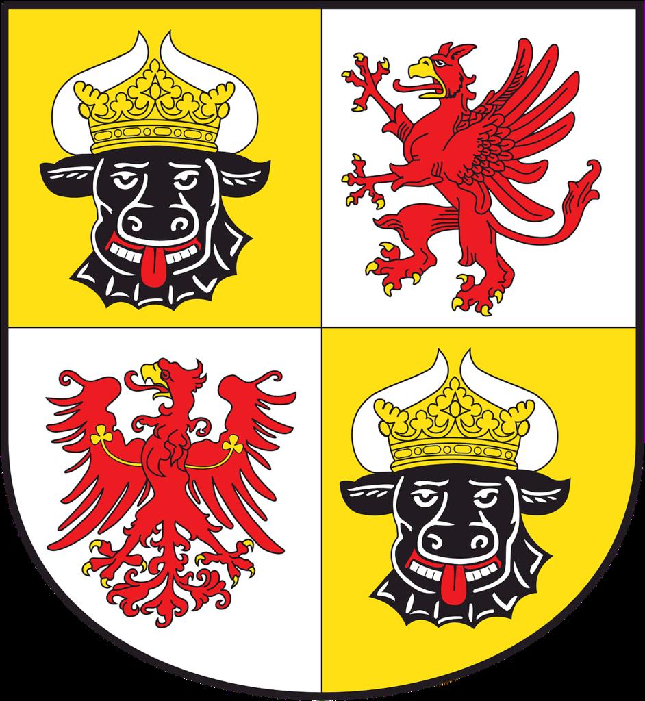 Coat of arms mecklenburg-western pomerania german.
