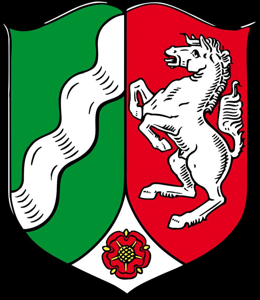 Coat of arms north rhine-westphalia german.