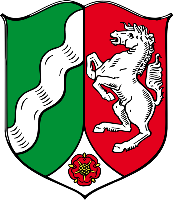 Coat of arms north rhine-westphalia german.