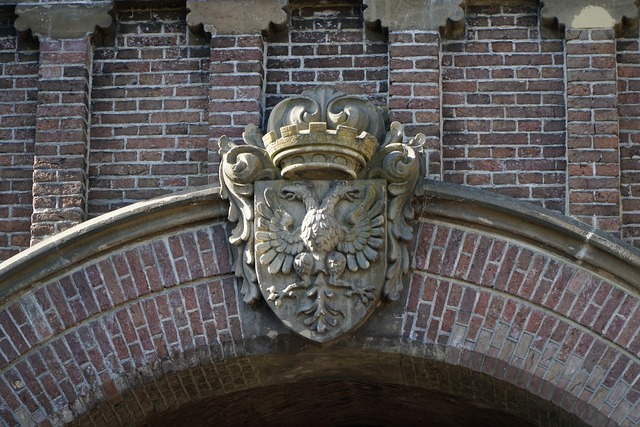 Coat of arms old holland, architecture buildings.