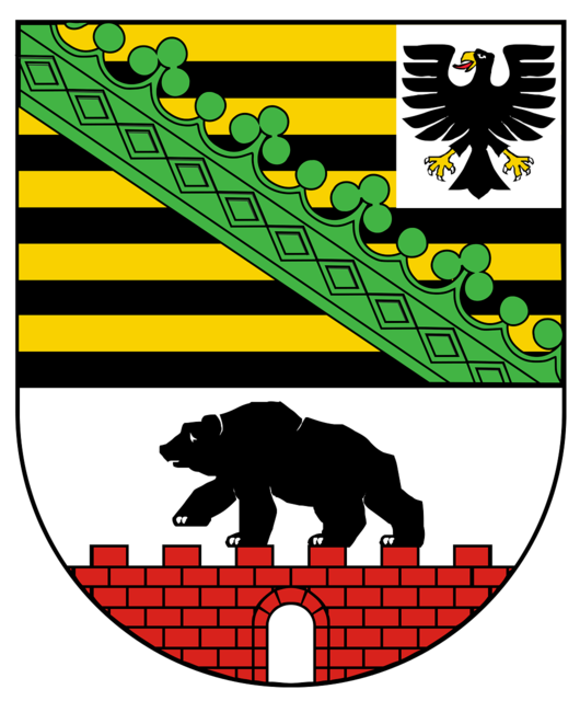Coat of arms saxony-anhalt germany.