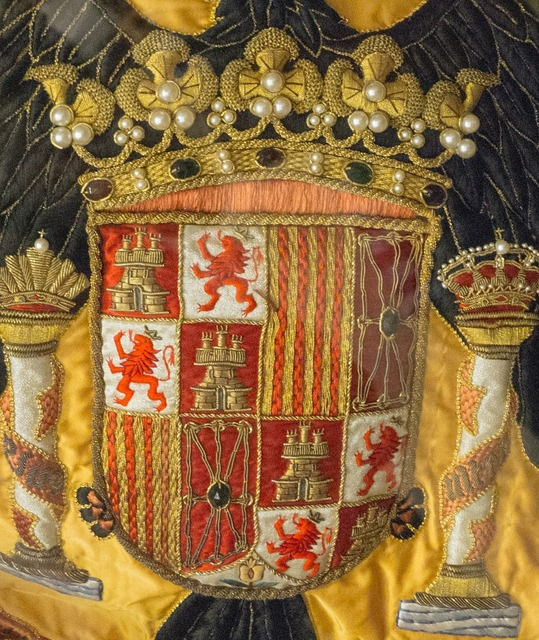 Coat of arms spain flag.