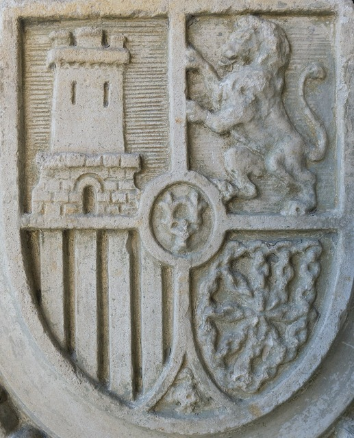 Coat of arms spain stone.