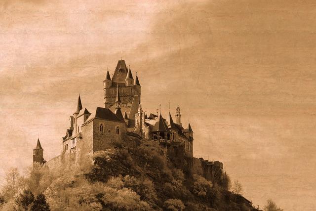 Cochem castle knight's castle, architecture buildings.