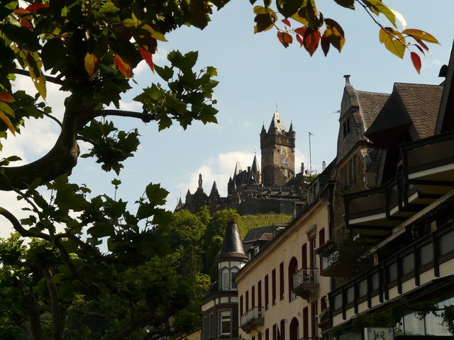 Cochem imperial castle castle, nature landscapes.