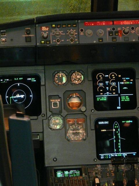 Cockpit aircraft fittings, transportation traffic.