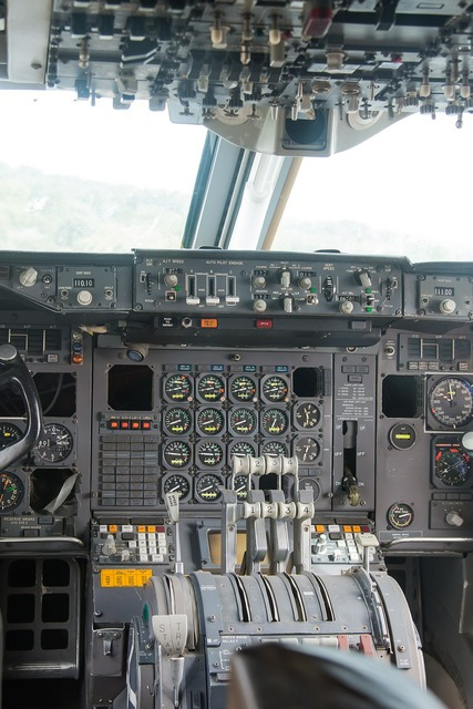 Cockpit aircraft instruments, science technology.