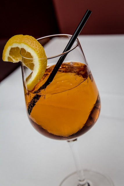 Cocktail aperol sprizz, food drink.