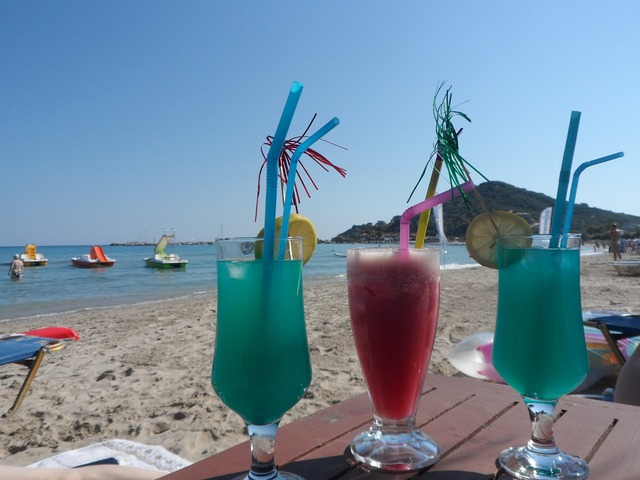 Cocktail beach summer, travel vacation.