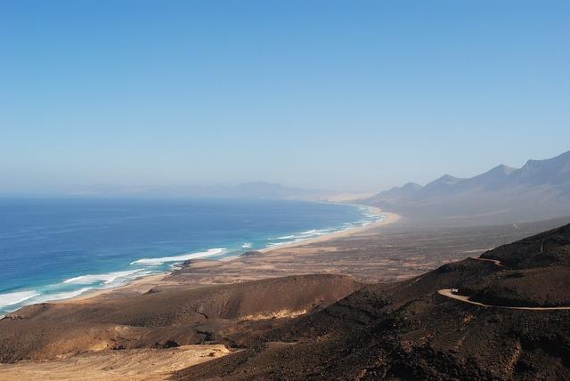 Cofete fuerteventura canary islands, travel vacation.