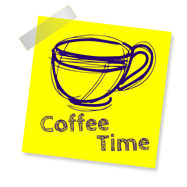 Coffee cup coffee time.
