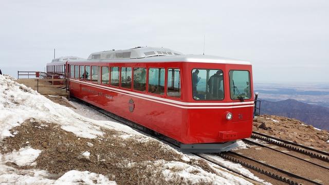 Cog railway pike's peak train.