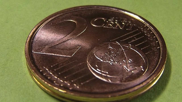 Coin cent euro, business finance.