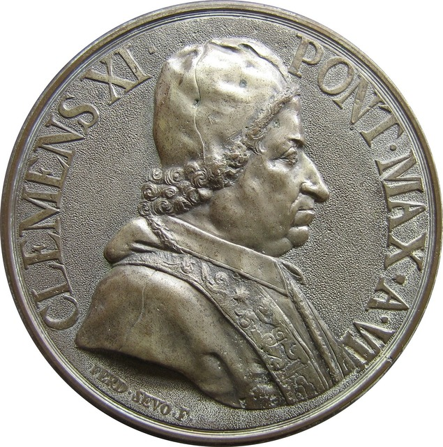 Coin embossing pope, business finance.