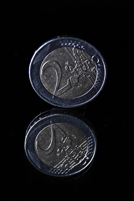 Coin euro currency, business finance.