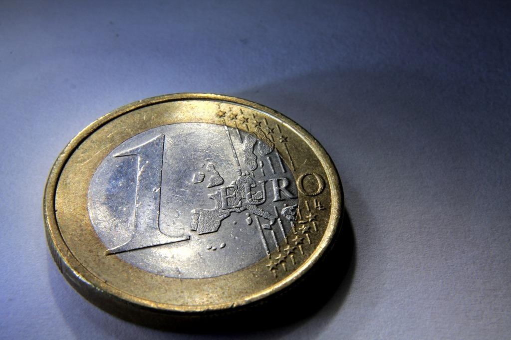 Coin euro money, business finance.