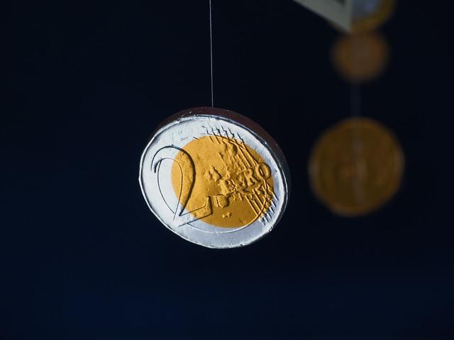 Coin euro money taler, business finance.