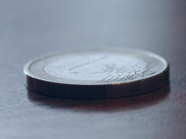 Coin money euro, business finance.