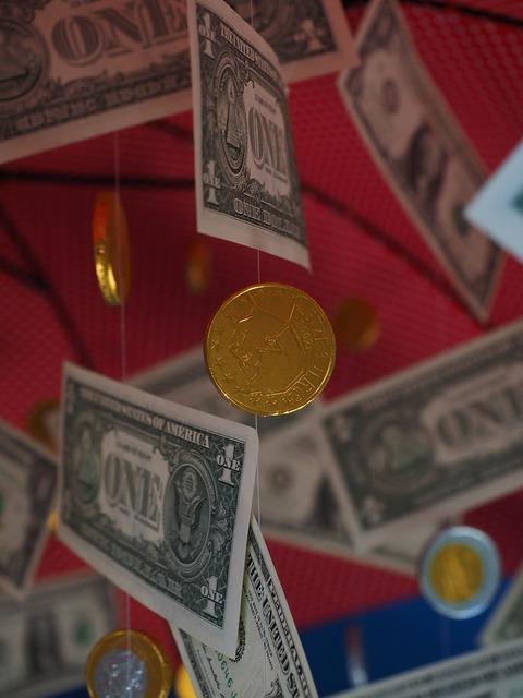 Coin money rain dollar rain, business finance.