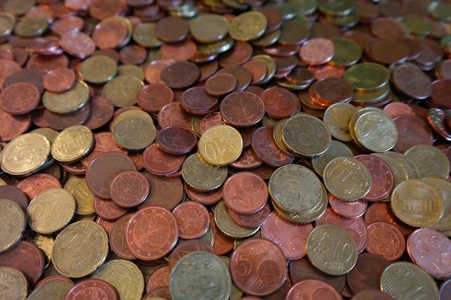 Coins cent specie, business finance.