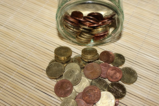 Coins euro € coin, business finance.